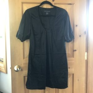 French Connection Black Shift Dress 100% Silk